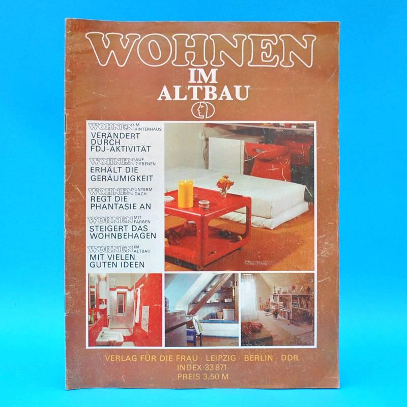ddr wohnen im altbau um 1975 zeitschrift wohnen einrichten innenarchitektur l ebay. Black Bedroom Furniture Sets. Home Design Ideas