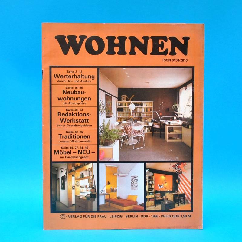ddr wohnen 1986 zeitschrift wohnen einrichten innenarchitektur b einbauk che ebay. Black Bedroom Furniture Sets. Home Design Ideas